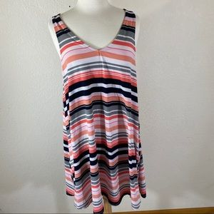 Torrid Stretchy Striped Popover Dress Size Large